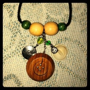 Handmade Vintage Button Necklace & Earring Set